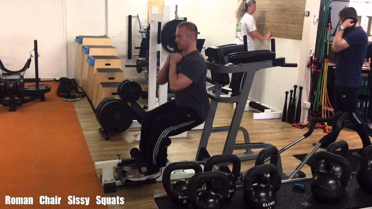 & Roman Chair Sissy Squats - YouTube