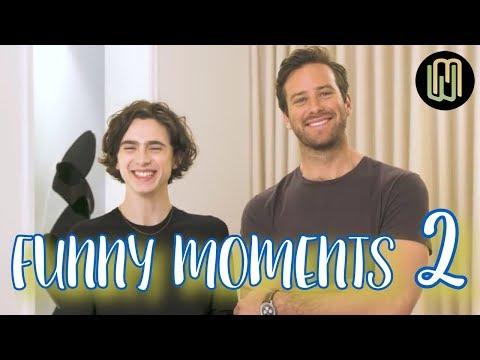 Armie Hammer & Timothée Chalamet - Funny Moments PART 2