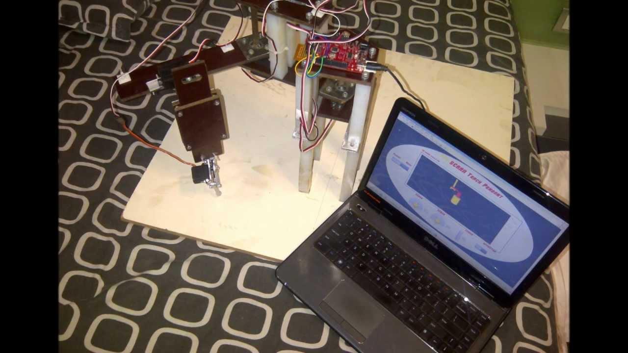 SCARA Robotic Arm using LabVIEW , AutoCAD & Arduino Platform