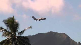 C-17 Globemaster from Joint Base Pearl Harbor Hickam Lands at Wheeler Army Airfield!