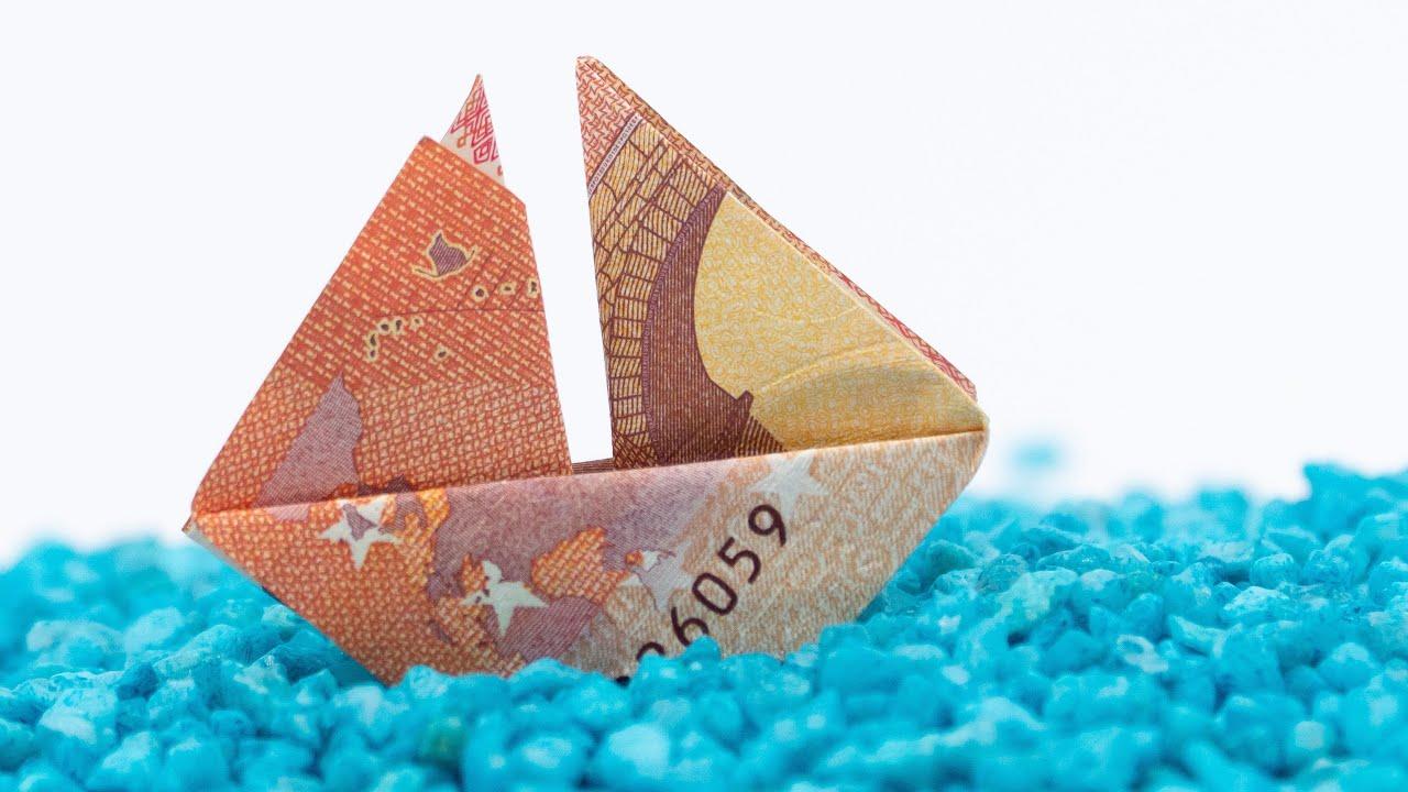 Schiff falten geldschein
