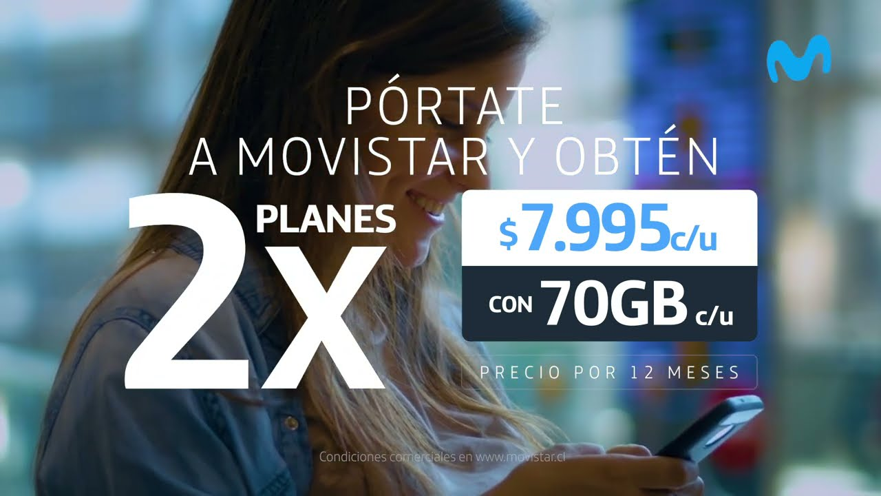 Pórtate a Movistar y obtén 2 planes por un precio especial 💃