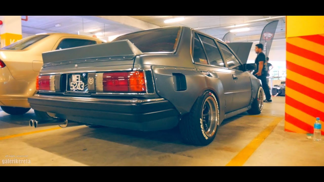 Nissan Sunny B11 Custom Widebody at Retro Havoc 2018 - YouTube