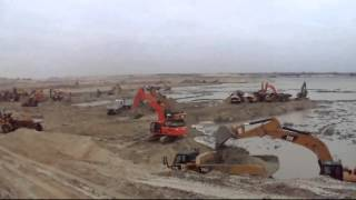 قناة السويس الجديدة مصر:بداية قناة السويس الجديدة بتفريعة البلاح كيلو60يناير2015