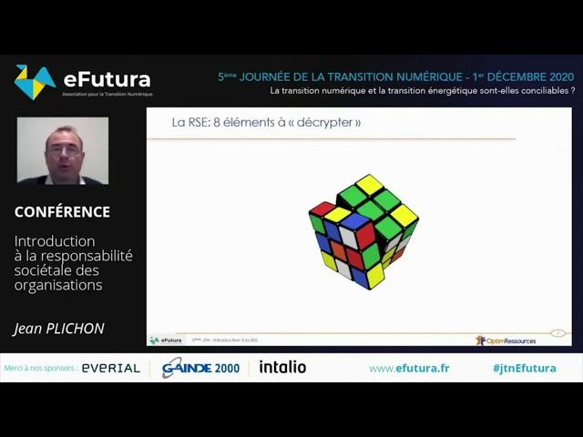 Conférence de M. Jean PLICHON - Introduction à la Responsabilité sociétale des Organisations