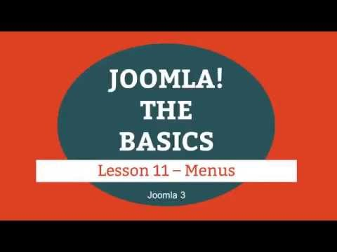 Joomla 3 Tutorial Lesson 11 Menus (joomla web design) - YouTube