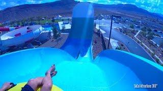 "Hoover Half Pipe Water Slide [HD POV] -  ""Family Boomerango"" Wet n Wild Las Vegas Water Park"