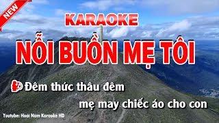 Karaoke Nỗi Buồn Mẹ Tôi - noi buon me toi karaoke nhac song