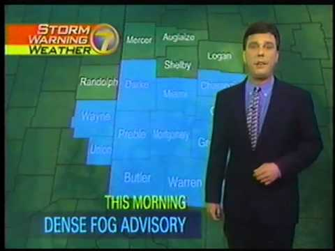 WHIO-TV Newscenter 7 Dayton Ohio weather break 1999