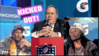 PFT Commenter Gets KICKED OUT From NFL Media Day After Interviewing Belichick, Gronk, Gurley & More!