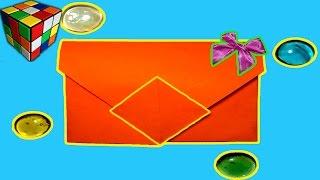 Оригами конверт. Как сделать конверт из бумаги своими руками. Поделки из бумаги(Учимся рукоделию! Оригами конверт. Как сделать конверт из бумаги! Конверт из бумаги своими руками! Всё поэта..., 2016-12-04T17:30:00.000Z)