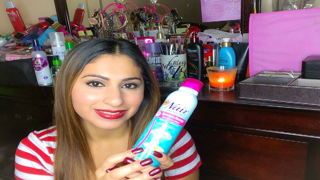 Review Nair Shower Max Hair Removal Spray Channel Update Youtube