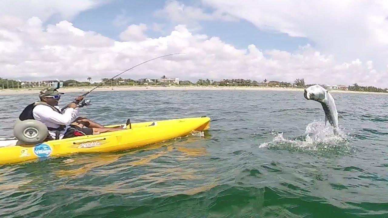 Kayak fishing delray beach giant tarpon with zak catch em for Delray beach fishing
