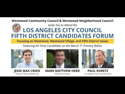 Los Angeles City Council 5th District Candidates Forum 1