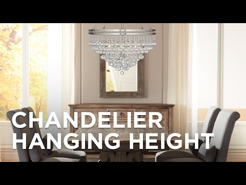 Chandelier Hanging Height How High To Hang A