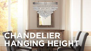 Chandelier Hanging Height How High To, Height To Hang Chandelier In Living Room