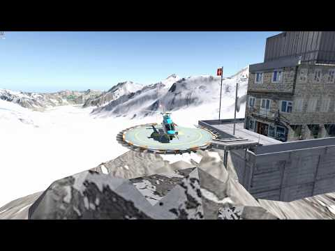 Take-off & Landing From/to LSJF On A Bell 407 With XPlane