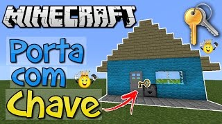 Como fazer Porta com Chave Minecraft PE/PC/PS4/Xbox