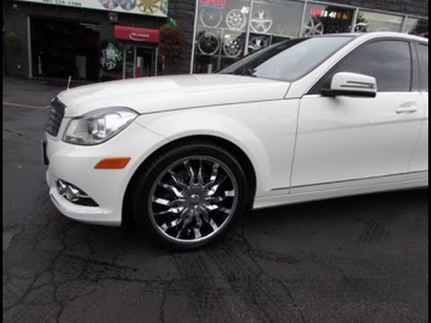 2013 Mercedes Benz C350 4 Matic With Custom 18 Inch Chrome Rims Tires