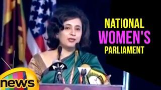 Popular Journalist Sagarika Ghose Speech At National Women's Parliament Conference   Mango News