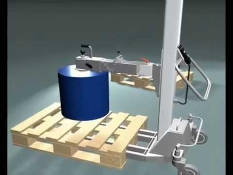 Reel Handling - Mobile Lifter and Turner - Materials Handling