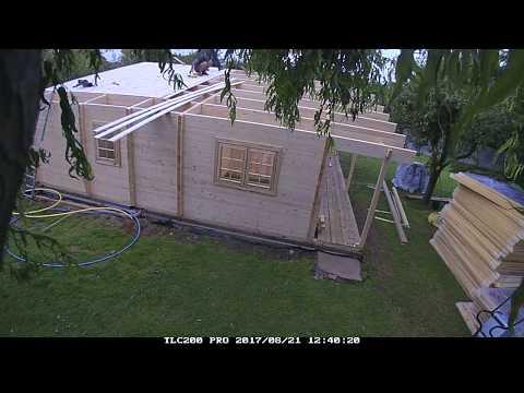 Quick Garden   Nantes Residential log cabin 13m x 9m installation timelapse PART 2   Pineca Group