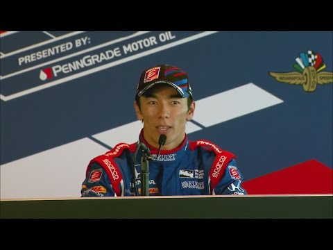 Sato addresses media after Indy 500 win