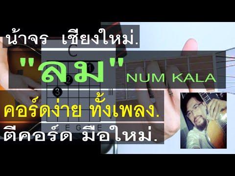 สอนกีต้าร์  ลม (NUM KALA)  คอร์ดง่าย มือใหม่ ตีคอร์ด - น้าจร เชียงใหม่ Cover