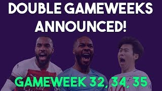 All FPL Double gameweeks announced! | Fantasy Premier League 2018/19