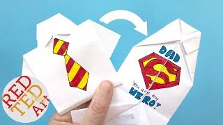 Easy Origami Shirt - How to Draw Superman Logo - Father