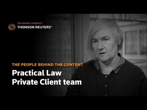 The people behind the content: Practical Law Private Client team