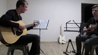Pink Floyd - Wish you were here (guitar cover). Фрагмент урока в школе Maestro.