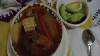 Receta Mole de olla con Espinazo de Puerco