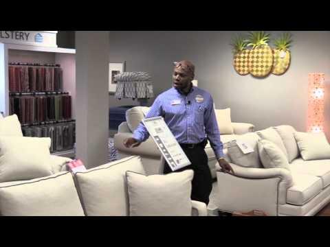 Pinellas Park, custom furniture, 4 sizes, Bassett sofa, cushions, fabrics, colors, Hudson's