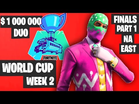 Fortnite World Cup WEEK 2 Highlights - Final Part 1 NA East DUO [Fortnite Tournament 2019]