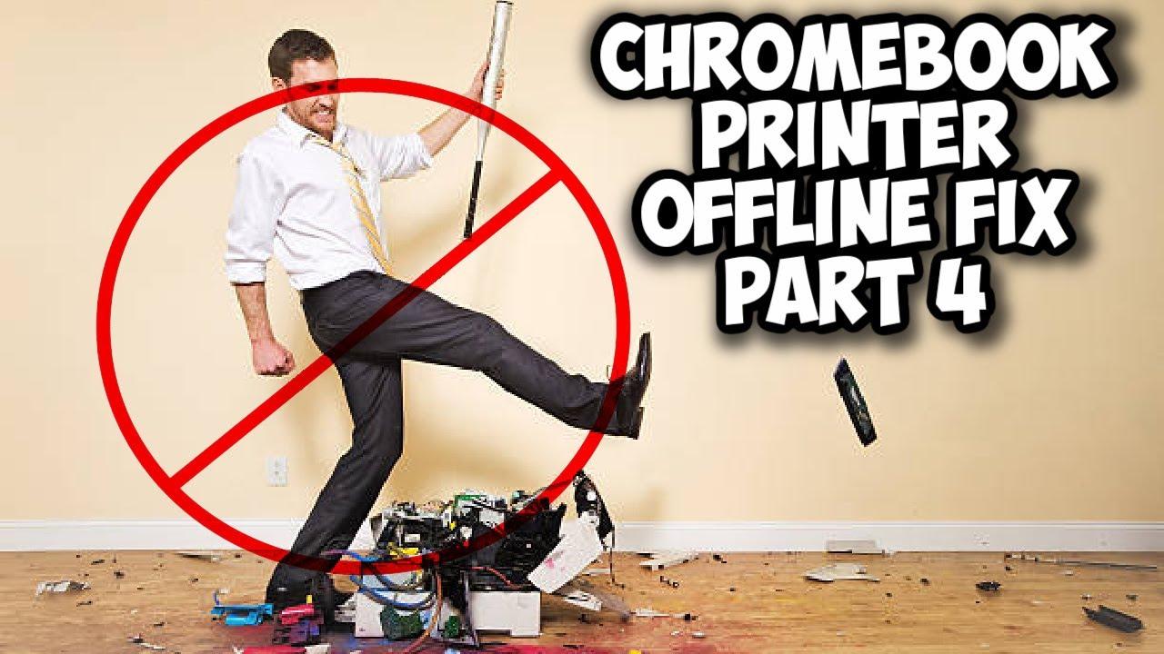 Chromebook Printer Offline Fix - Part 4   Set Up Printer on Chromebook