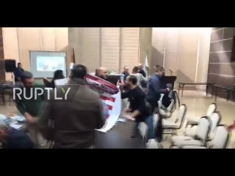 State of Palestine: Protesters storm meeting, kick out US delegation in Bethlehem