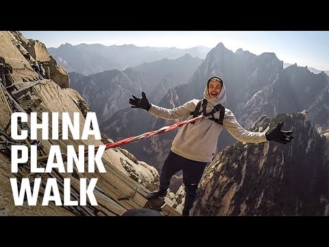 China Plank Walk in Mt Hua Shan