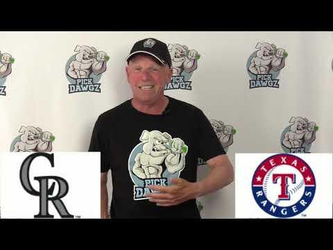 Texas Rangers vs Colorado Rockies Free Pick 7/21/20 MLB Pick and Prediction