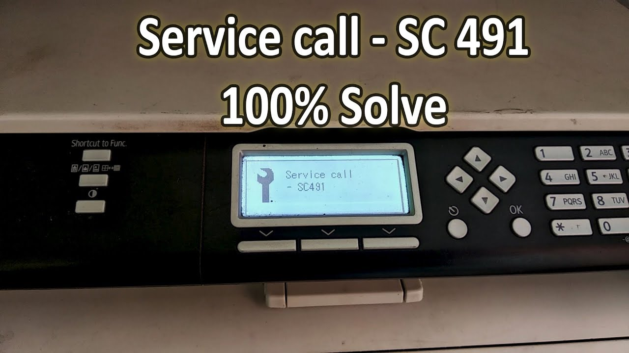 ricoh sp210 su service call sc491big problem