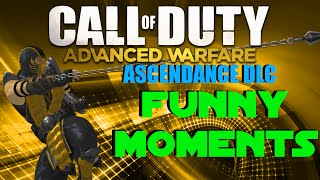 COD Advanced Warfare Funny Moments - Ascendance DLC,  Epic Grapple Hook Kills, New Maps, OHM Weapon