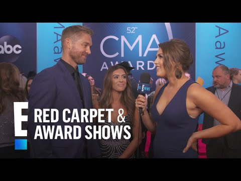 Brett Young & Taylor Mills Hit CMAs Red Carpet as Newlyweds | E! Red Carpet & Award Shows