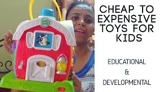 Cheap to Expensive Educational Toys | Toys for Learning & Development | Best Toys for Kids