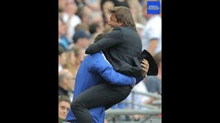 Conte Celebration to Alonso39s winning GOAL Tottenham vs Chelsea 12 - Chelsea FC my Religion