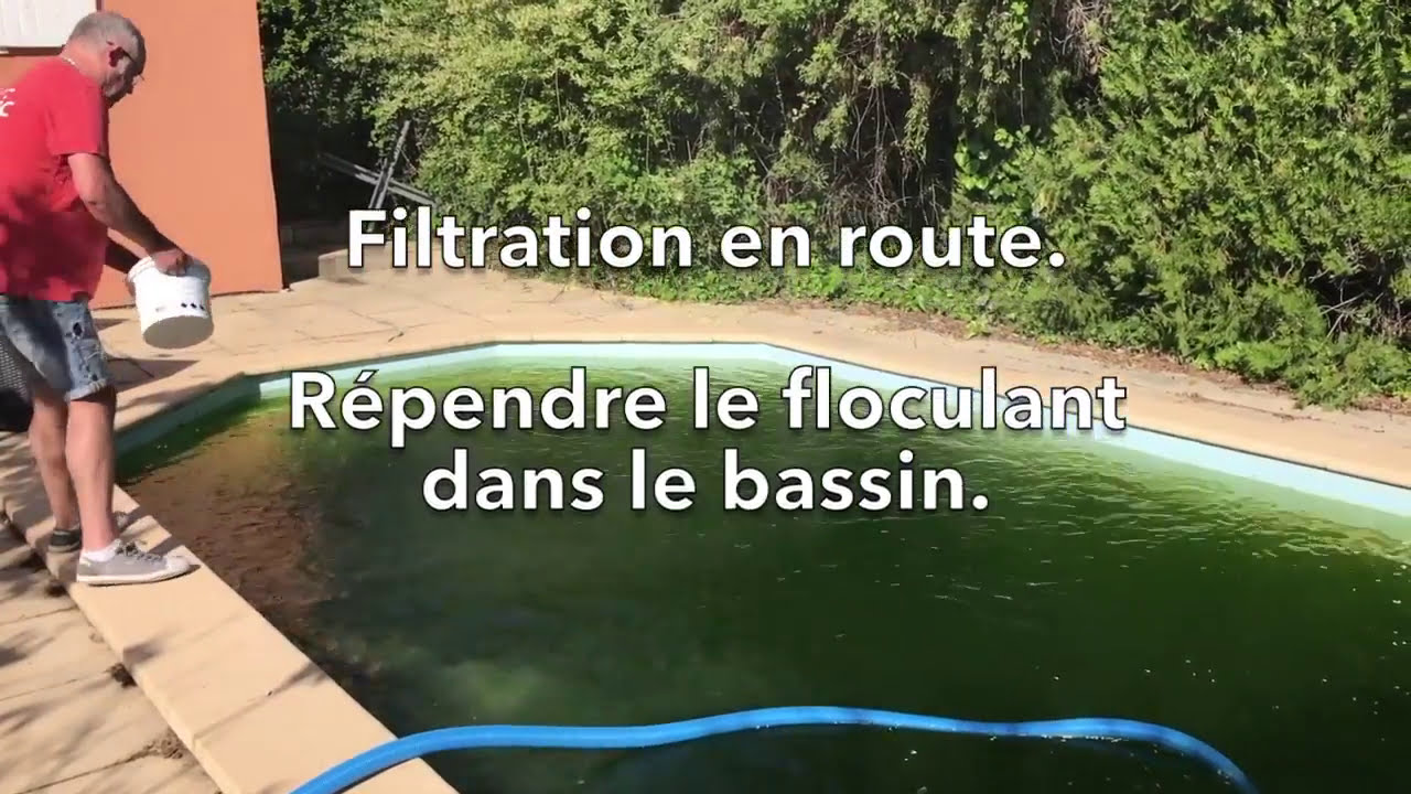 Eau de piscine verte produit miracle 2 youtube for Eau trouble piscine