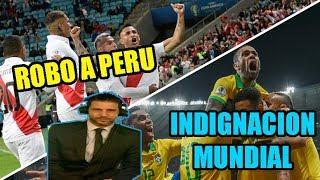 ASI NARRARON EN ARGENTINA EL ROBO A PERU BRASIL VS PERU 3-1
