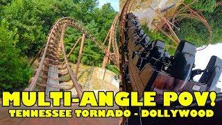 Tennessee Tornado Roller Coaster! Multi Angle Onride POV! Dollywood Theme Park