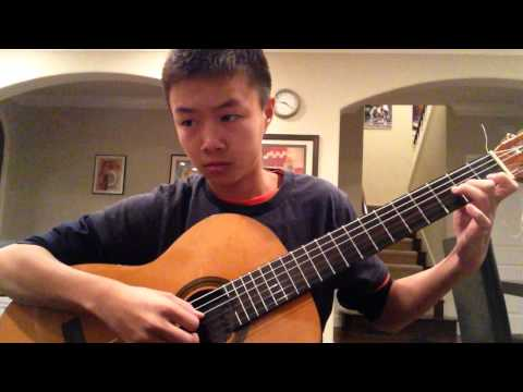 SAKURA - traditional japanese song on classical guitar - Sam Yang