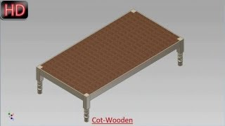 Cot-wooden (video Tutorial) Autodesk Inventor
