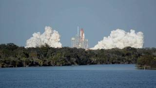 Space Shuttle Discovery launch video from nasatweetup STS-133